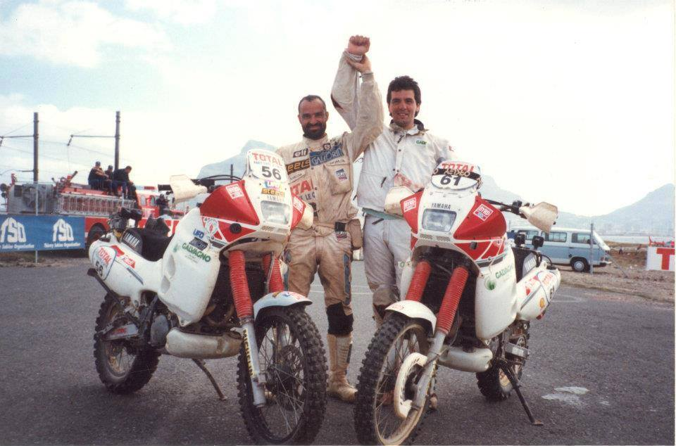 Maximum Montebelli and Fabrizio Meoni Dakar 1992