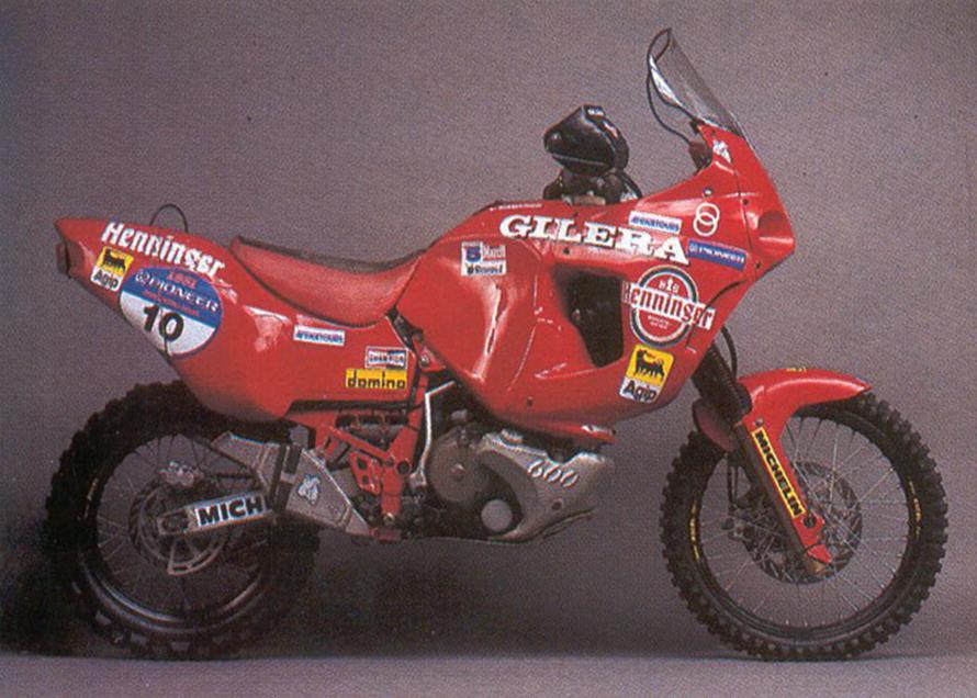 The Gilera RC 660 of 1991 con cui concluse al 7° posto nell'assoluta