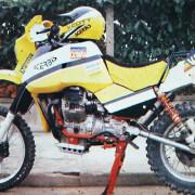 Moto Guzzi V65 TT di Torri alla Dakar 1985