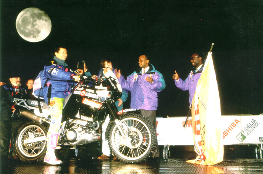 Podium starting Dakar 95