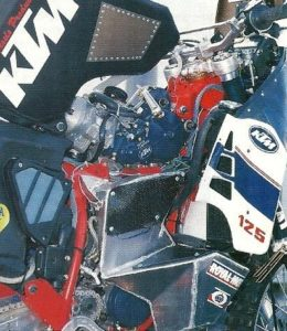 DAKAR 1988: So that's where the engine Commons! Despite this, Assis did not pass the first stages!
