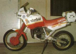 DAKAR 1988 The Yamaha Ténéré 125 by Mercandelli, travel prepared by Belgarda