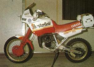 DAKAR 1988 La Yamaha Tenerè 125 di Mercandelli, preparata di corsa dalla Belgarda