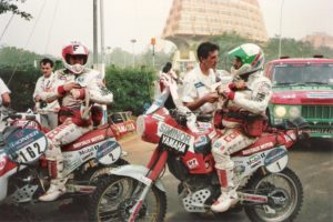DAKAR 1989 The brethren Auribault among the last to participate in the Dakar of the golden years, and both the finish