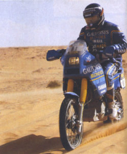 7 France's motocross Championship titles (1971 classe 250, 1971, 1972, 1973, 1974, 1976 e 1977 class 500 and 13 stages won in 8 Dakar in which he participated.