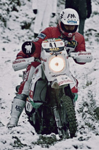 Beppe Gaulini racing with a private Elefant