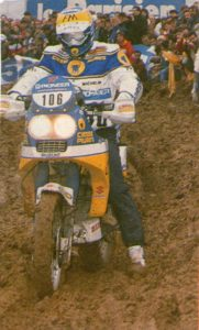 Beppe Gauri on his Suzuki DR650