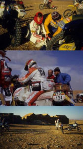 Some moments immortalized in Dakar 1986. In the photo above the great Veronique Anquetil.