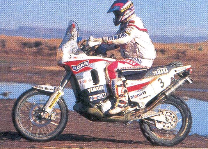 The Yamaha XTZ 850 victory at the Dakar 1996 with Edi Orioli