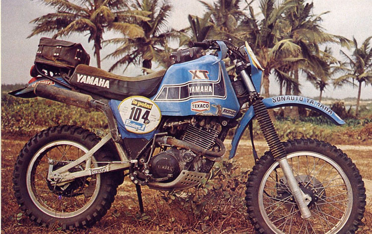 The Yamaha XT550 of the Dakar 1982
